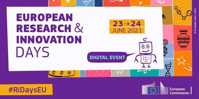 "Save the Date! ""EU R&I Days"":  H εμβληματική εκδήλωση για την έρευνα και την καινοτομία πραγματοποιείται στις 23-24 Ιουνίου"