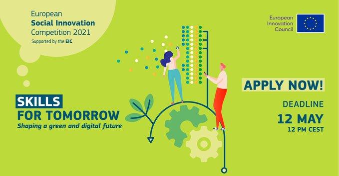 """Skills of Tomorrow"" : Διαγωνισμός κοινωνικής καινοτομίας με την υποστήριξη του EIC"